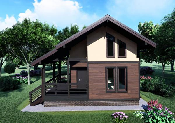 Двухэтажная баня проект Барыбино