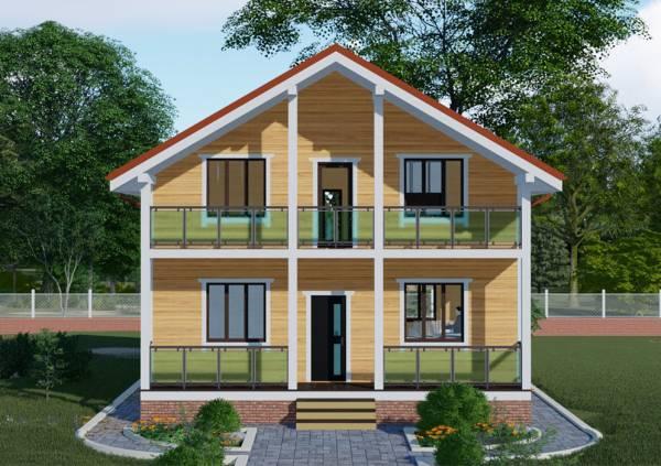 Основной фасад дачного дома проект Троицк