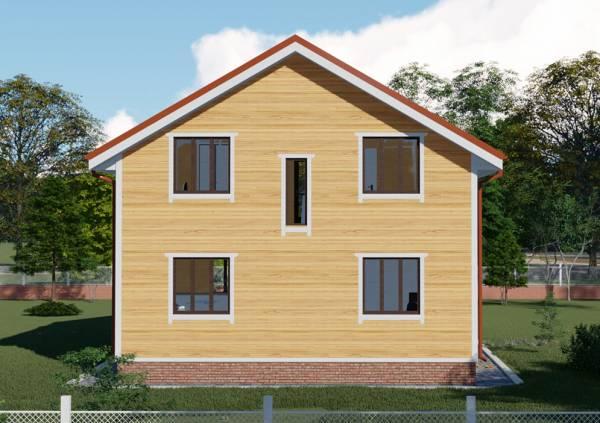 Модель проекта дачного дома Троицк