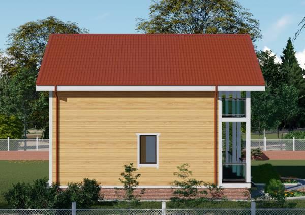 Посмотреть фотографию проекта Троицкдачный дом с мансардным этажом