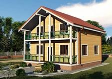 Дачный дом с мансардным этажом проект Троицк
