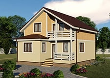 Вид на проект дачного дома проект Владимир