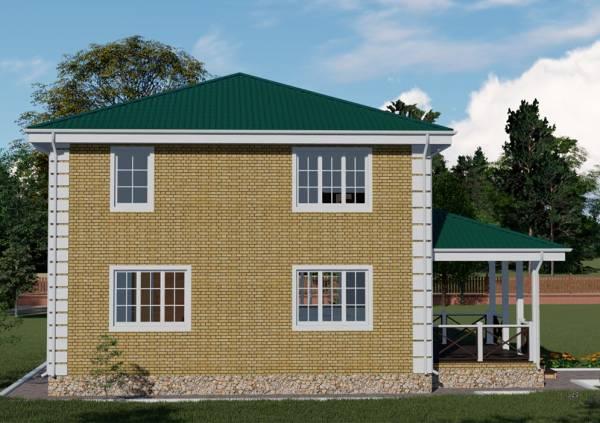 Вид на фасад коттеджа проекта Калуга