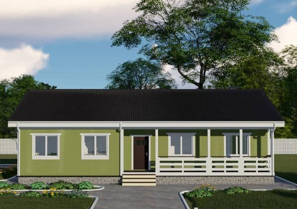 Проект одноэтажного дачного дома по проекту Зеленый