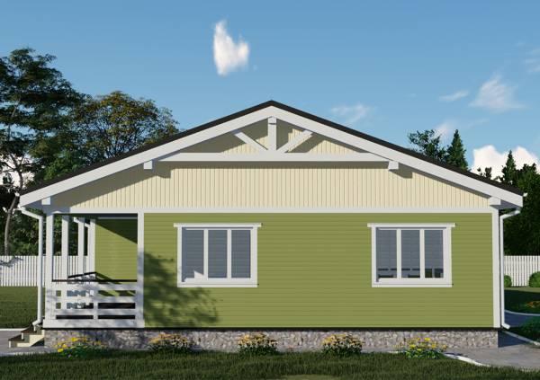 Одноэтажный дачный дом размером 11 на 155 метров проект Зеленый