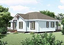 3Д визуализация проекта дачного дома Кашира