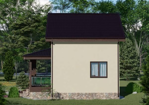 Двухэтажный проект дачного дома Пушкино размер 8 на 8 метров