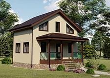 Визуализация проекта дачного дома Пушкино