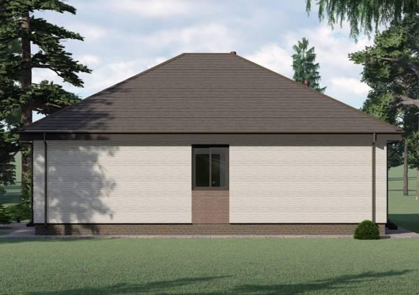 Строительство одноэтажного коттеджа по проекту Сергиев-Посад вариант отделки