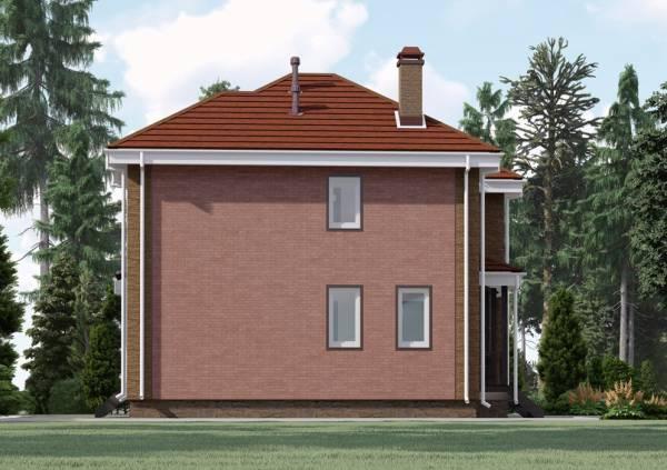 Четвертая сторона визуализации двухэтажного коттеджа Алексин для проекта