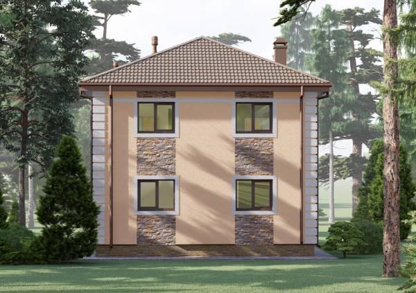 Варианты отделки фасада коттеджа по проекту Ковров