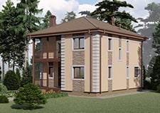 Визуализация двухэтажного коттеджа для постоянного проживания Ковров