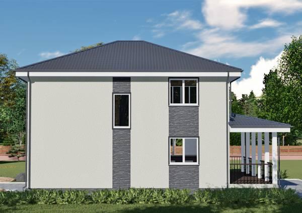 Вид на проект двухэтажного коттеджа Лыткарино