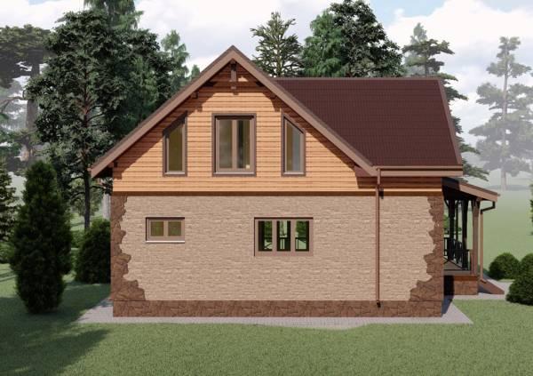 3D  визуализация проекта дачного дома Пущино в нашем каталоге