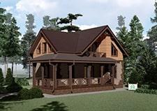 Проект дачного дома с мансардой Пущино
