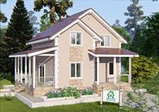 Дачный дом проект Верея основное фото