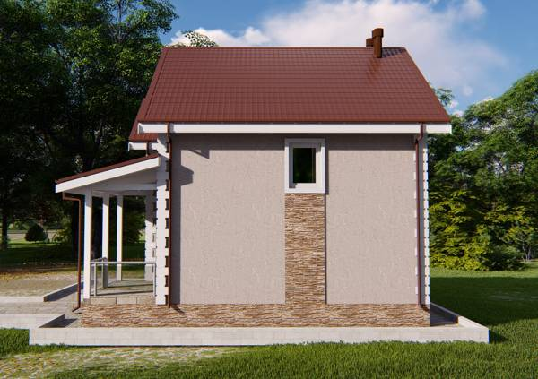 Вид на фасад дачного дома проекта Верея