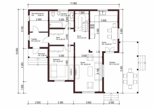 1-ый этаж коттеджа для постоянного проживания Фрязино