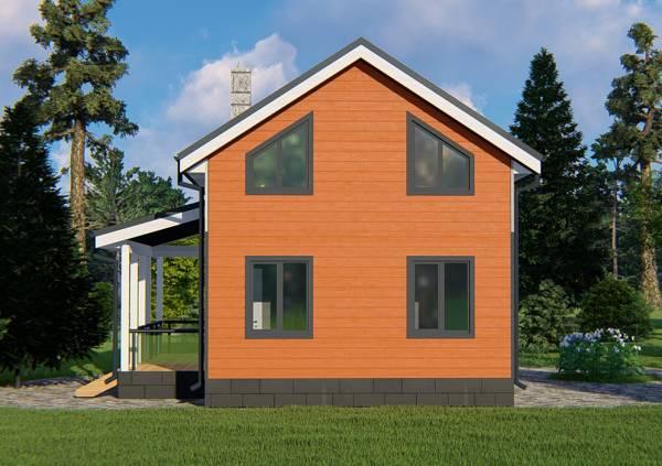 Вид на фасад дачного дома проекта Купавна