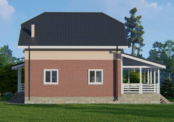 Фасад дачного дома проект Яхрома фото