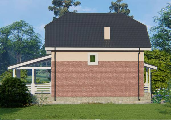 Фасад дачного дома проект Яхрома