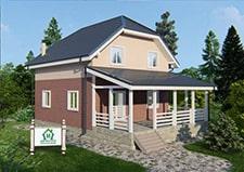 Вид на проект Яхрома дачный дом