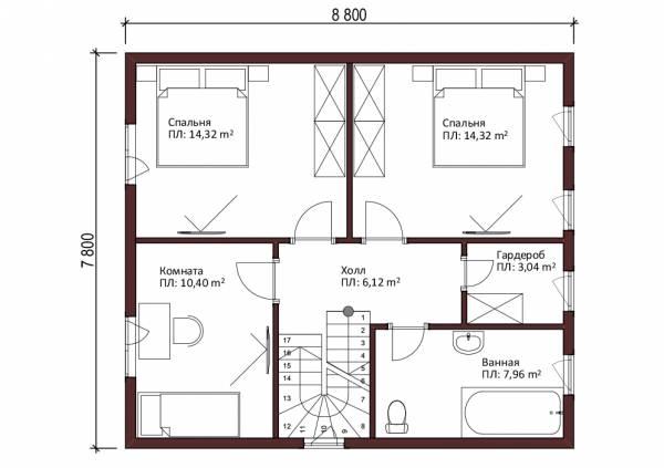 Мансардный этаж Яхрома дачный дом