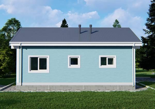 Вид на проект дачного дома Руза
