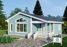 Одноэтажный дачный дом проект Руза