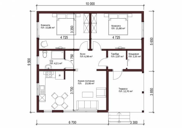 планировка дачного дома Руза