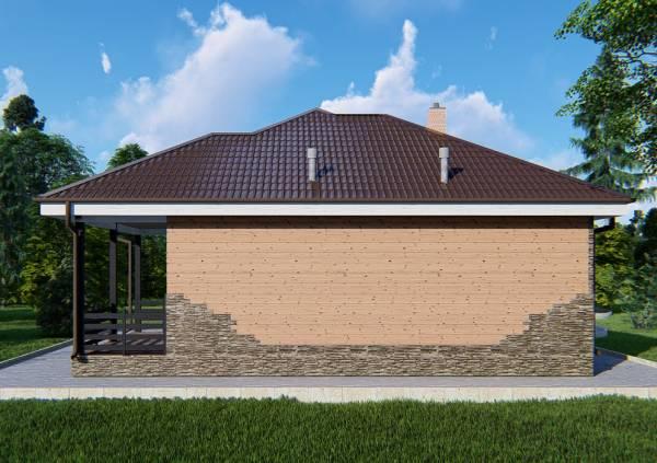Одноэтажный дачный дом проект Талдом