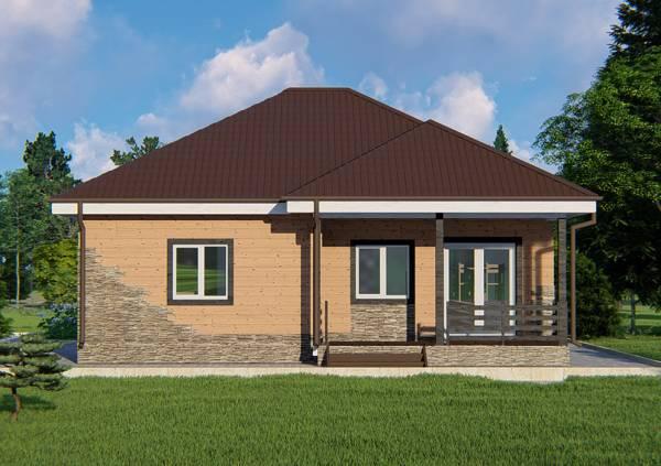 Дачный дом проект Талдом одноэтажный