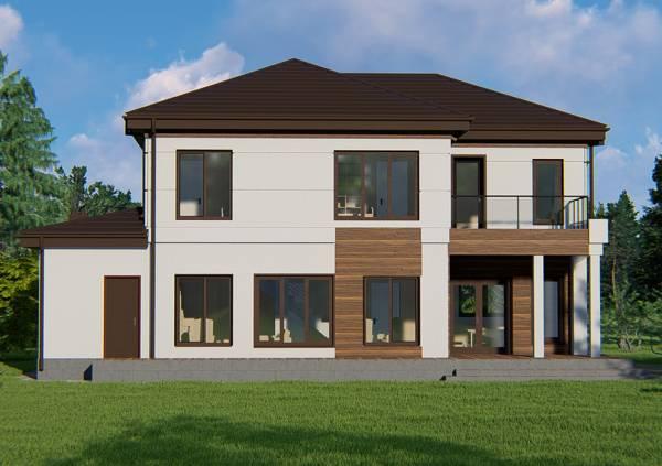 Фасад проекта Черноголовка строительство коттеджа