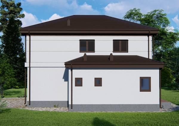Двухэтажный коттедж Черноголовка визуализация проекта