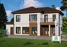 Двухэтажный коттедж круглогодичного проживания проект Черноголовка