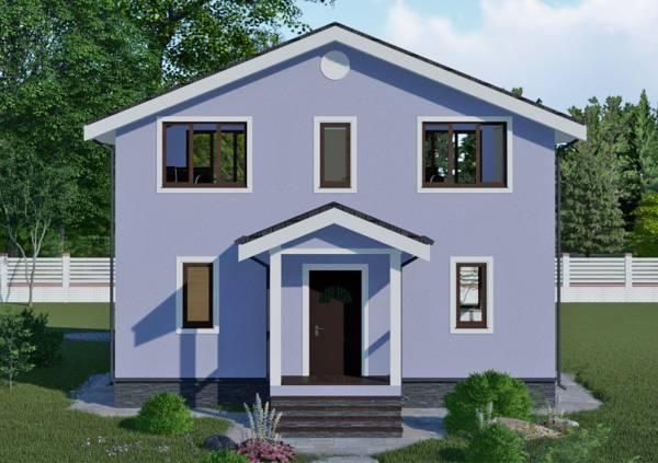 Вид на крыльцо проект Красногорск дачного дома