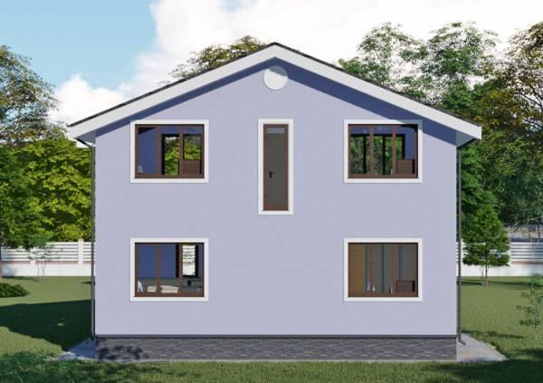 Дачный дом проект Красногорск с мансардным этажом