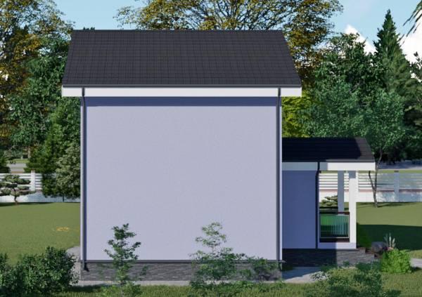 Вид на пустую сетну дачного дома возможно изменение проекта