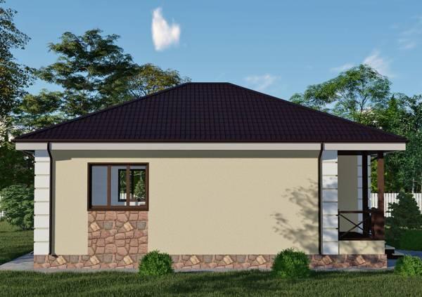 Взгляд на дачный дом по проекту Пересвет от СК Дом Мастеров