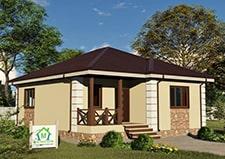 Одноэтажный дачный дом проект Пересвет от СК Дом Мастеров