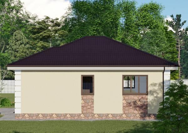 Посмотреть проект дома в один этаж для дачи Пересвет