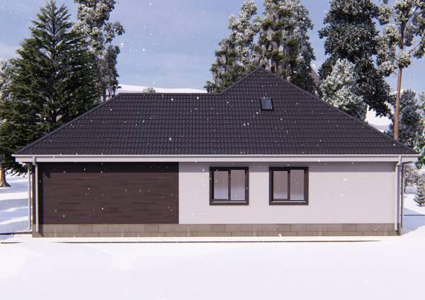 Одноэтажный коттедж для постоянного проживания проект Московский
