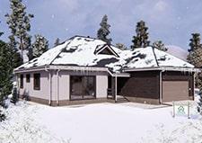 Одноэтажный коттедж для постоянного проживания проект Московский как на фото