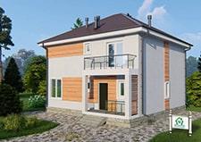 Проект двухэтажного коттеджа Егорьевск общее фото