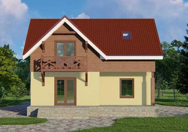 Проект коттеджа Королёв фасад смотреть фото.
