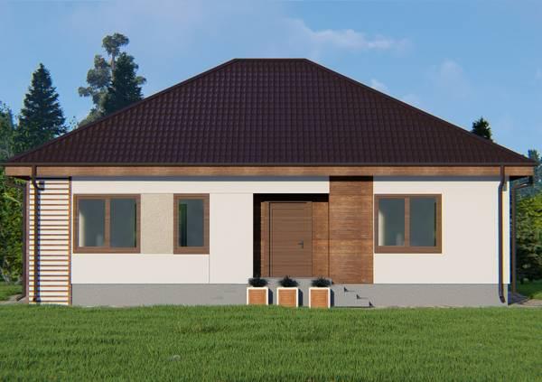Фасад дачного дома проект Федюково.