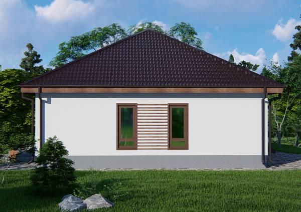 3Д визуализация проекта дачного дома Федюково в один этаж.