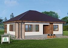 Фотография одноэтажного дачного дома проект Федюково.