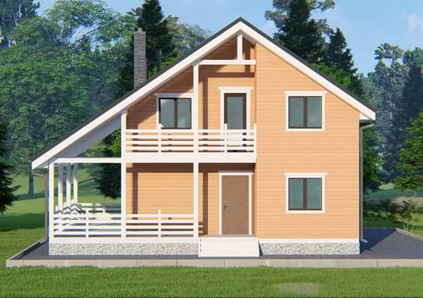 Вид на проект Климовск с балконом.