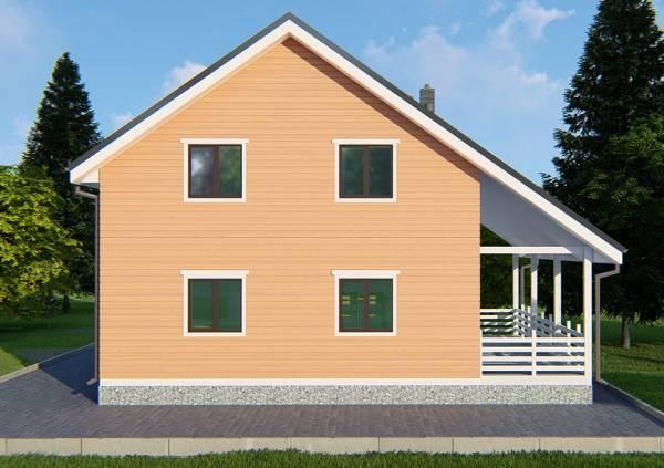 Четыре окна коттеджа по проекту Климовск